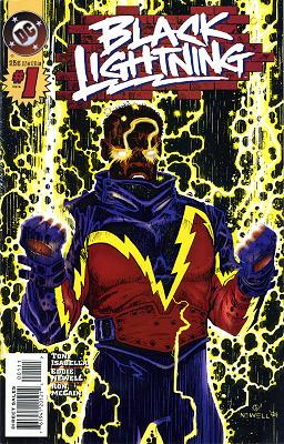 Black Lightning vol.2 no. 1 cover by Eddy Newell
