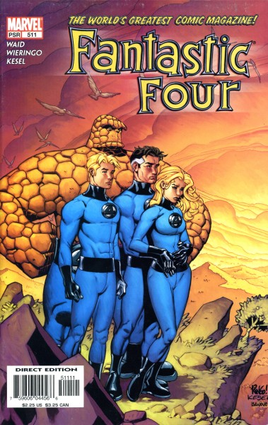 Fantastic Four 511 cover by Wieringo and Kesel